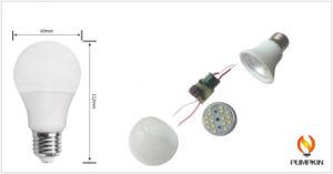 E27 5W/7W/9W/12W/15W/18W A60/A70 Plástico LED Lâmpada de alumínio