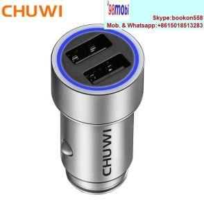Chuwi Ublue CNC Q cargador de coche portátil con doble USB
