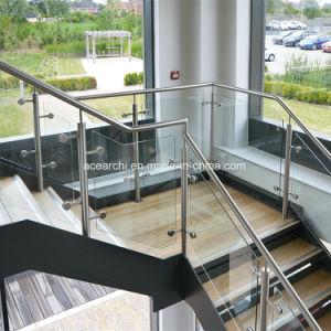 Balaustra di vetro della scala dell'acciaio inossidabile per dell'interno