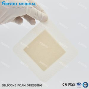 Het medische Schuim Dresing van het Silicone van de Vulling van de Wond Antibacterial Silver AG