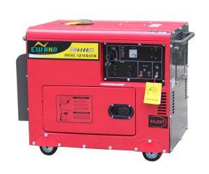 220V50Hz elektrische Diesel van het Begin 5kw Stille Generator