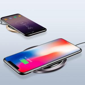 Certificado de Qi 10W Fast Pad Teléfono móvil de carga inalámbrica soporte cargador inalámbrico compatible Galaxy Note 9/8/5 S9/S9+ S8/S8+ S7/S7 Edge S6