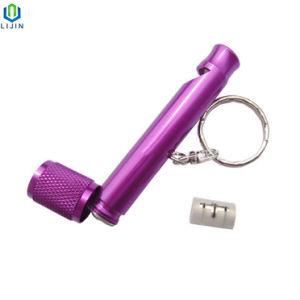 소형 승진 선물 호각 열쇠 고리 LED 플래쉬 등