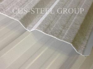 Profil de toit prépeint Anti-Condensation /enduit tôle de toit avec du feutre en Europe