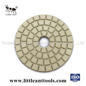 4-duim de Natte Bleekgele Oppoetsende Stootkussens van de Diamant voor de Lichte Steen van de Kleur
