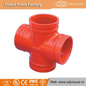 Made in China fundición dúctil de montaje del tubo de la Cruz ranurado
