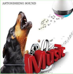 Bombilla de luz LED inteligente con reproductor de música inalámbrica altavoces JBL y Manual de usuario