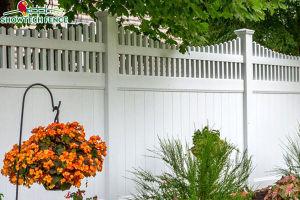 Décoration de jardin en PVC blanc Clôture de la vie privée