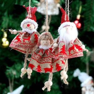 1PCかわいいクリスマスツリーの吊り下げ式のサンタクロースくま