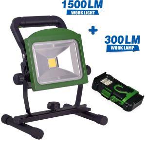 20W 1500 лм портативный светодиодный индикатор рабочего освещения с аккумуляторами съемные 300lm фонарик