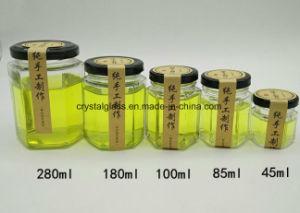 Six-Sided Speicherglas-Honig-Glas-Stau-Glas 500ml