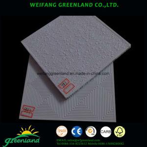 Vinyle carreaux de plâtre stratifiés/Panneaux de gypse laminé PVC/vinyle plastifiées Panneaux de plafond en plâtre, 595x595mm