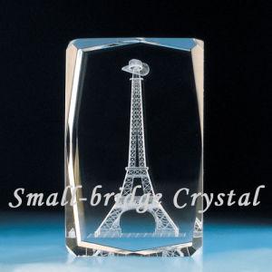 cristal du laser 3D à l'intérieur de la machine de gravure (HSGP-3KC)