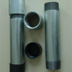 Bs1387 Galvanzied Threading ERW Steel Pipe con Coupling & Cap