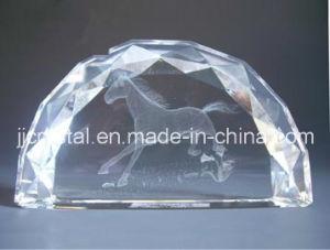 Incisione di cristallo del laser del peso di carta 3D dell'emiciclo