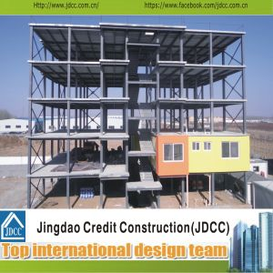 Estructura de acero de bajo costo diseño del edificio de oficinas