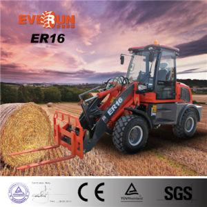Het Merk van Everun 1.6 van de Lader van het Wiel van de Ton de Kleine 4WD Motor van het Ce- Certificaat Euro3