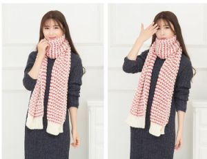 2017人および女性のための安い特大冬の厚くがっしりした編まれたスカーフそしてSnood