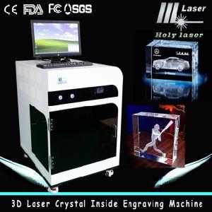 2d machine laser 3D en cristal cadeau intérieure Gravure Portable (HSGP-2KD)