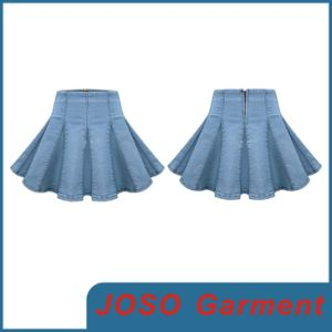 Jean Damas mini falda plisada (JC2044)