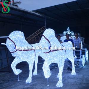 Pferden-Wagen-Aschenputtel-Wagen-Lichter des Weihnachtenled