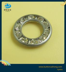 Kundenspezifische Firmenzeichen-Diamant-Einlegearbeit-runde Messingösen für Kleid, Hose