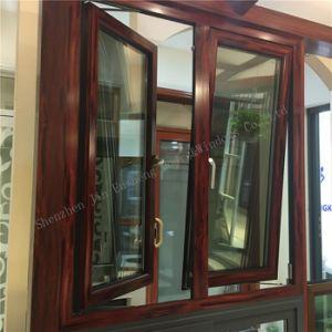 Тепловой Break дверная рама перемещена из алюминия и стекла перегородки тент со встроенным жалюзи