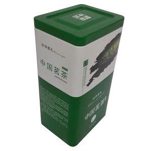 Poder de estaño del té del metal de 2 tapas
