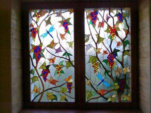 Nouveau design pattern Tiffany vitrail de la fenêtre du panneau