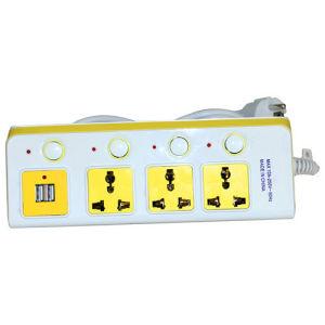 Zoccolo multiplo elettrico della spina di multi estensione variopinta mobile di funzione