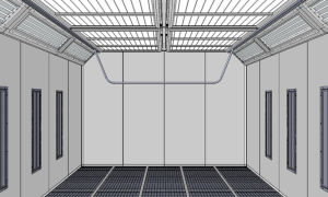 Energiesparender Lack-Spray-Stand
