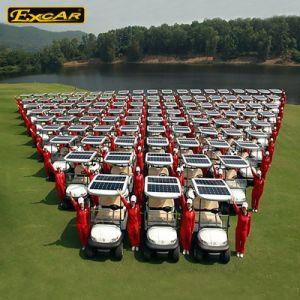 2 Seater Golf-Karren-elektrische verwanzte Solargolf-Karre