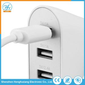 5V/6.8A blanco de cuatro coches USB cargador de teléfono móvil