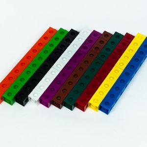 Puzzle éducatif jouet en plastique reliant Cubes pour plus de 3 ans