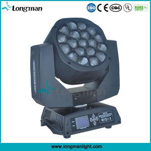 indicatore luminoso capo mobile della fase del grande occhio dell'ape di 19pcsx15W RGBW LED Zoomable