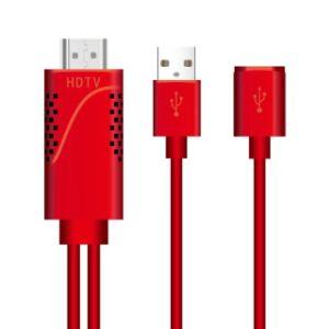 iPhone/iPad/Samsung SmartphonesのためのHDTVケーブルへの電光デジタルAVアダプター