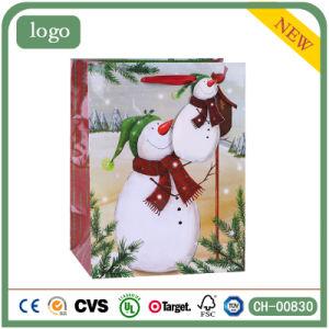Рождество глянцевое ламинирование снежную бабу Паттен подарок бумажных мешков для пыли