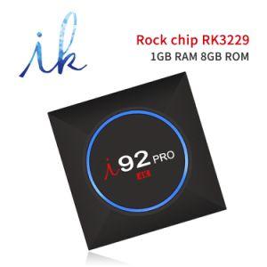 I92 PROAndroid IPTV Fernsehapparat-Kasten mit Roch Chip Rk3229 Blitz-Support 4K, WiFi, intelligenter Fernsehapparat-Kasten Media Player CPU-1GB RAM/8GB