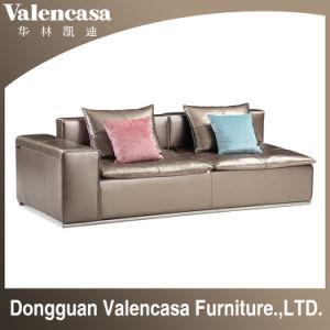 Hauptmöbel-reales ledernes Sofa für Wohnzimmer