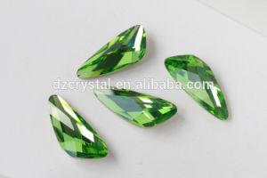 De hete Buitensporige Stenen van het Kristal van het Punt van de Vorm van de Vleugel van het Plateren van de Verkoop Zilveren AchterK9 voor het Maken van Juwelen