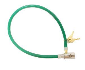 Colorida Flaxible Cable de alambre de acero de candado de bicicleta con la tecla de bloqueo