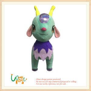 La conception complexe Soft peluche Dragon Vert Jaune jouet d'animaux d'avertisseur sonore
