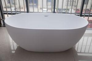 """66.9"""" /1700mm brillant ovale&acrylique mate baignoire autostable&autostable robinet en laiton"""