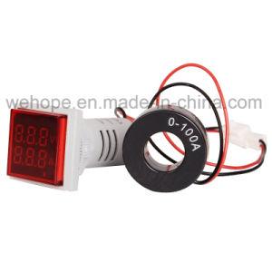 22mm LED Display digital Indicador de voltaje Medidor de luz de la señal de voltímetro