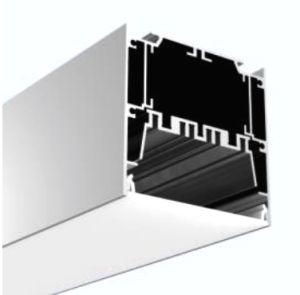 Алюминиевый профиль под руководством без фланца для установки на потолок или подвесными,