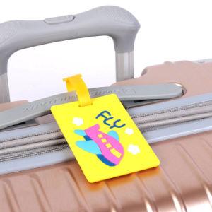 Diseño OEM para la promoción personalizada de mayorista de PVC en relieve las etiquetas de equipaje