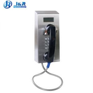 À prova de pó banco público gratuito por telefone com visor LCD do telefone