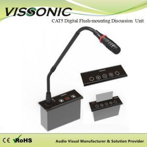 Vissonicの会議のマイクロフォンCat5デジタルのフラッシュ土台の議論の議長か代表者の単位
