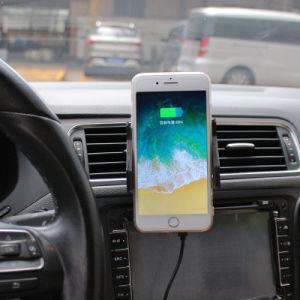 Cargador de coche inalámbrica Qi automático cargador inalámbrico para coche soporte del teléfono de ventilación de aire, la verdadera mano única de montaje de radioteléfono para IP