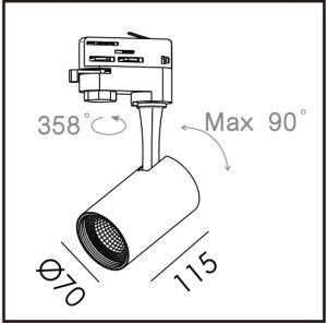 10W, 15W COB Fuente LED LED de alta eficiencia de la luz de la vía-T6017